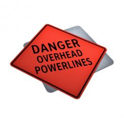 Danger Overhead Powerlines sign